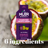 Muir Energy - Passion Fruit Pineapple Banana Energy Gel (Fast Burning)