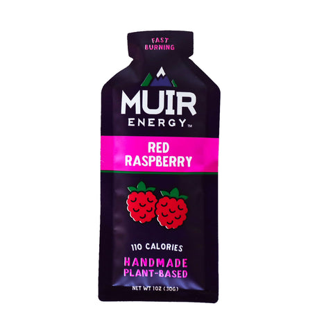 Muir Energy - Red Raspberry Energy Gel (Fast Burning)
