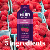 SALE - Muir Energy - Red Raspberry Mate (Caffeinated) Energy Gel (Fast Burning)