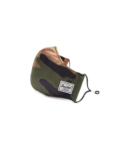 Herschel | Classic Fitted Mask in Woodland Camo