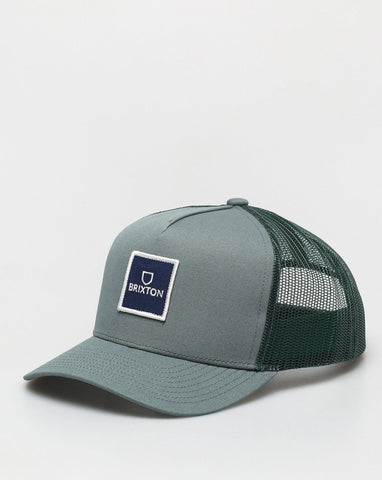 BRIXTON | Alpha Block Crossover MP Mesh Silver Pine Trucker