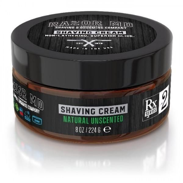 Razor MD | Natural Unscented Shaving Cream