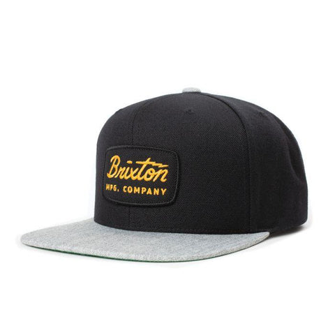 Brixton | JOLT Snapback in BLACK & H. GRAY