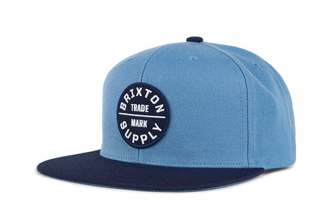 Brixton | OATH III Snapback in GREY BLUE/NAVY