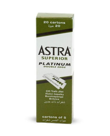 Astra | Double Edge Razor Blades superior platinum