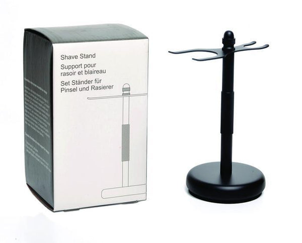 PureBadger Collection | BLACK Anodized Stand for Safety Razor & Shaving Brush