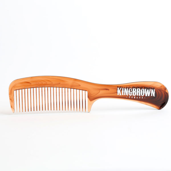 King Brown Pomade Handle Comb in Tortoise Shell
