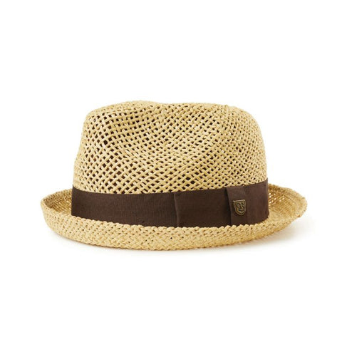 Brixton | CASTOR Fedora in DARK TAN