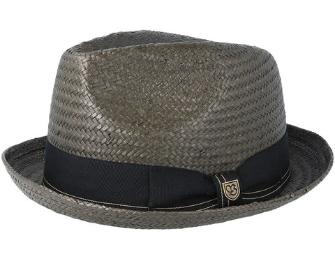 Brixton | CASTOR Fedora in WASHED BLACK/GOLD