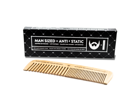 Always Bearded | Anti-Static Maple Beard COMB