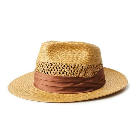 Brixton | GOODMAN Straw Fedora in COPPER