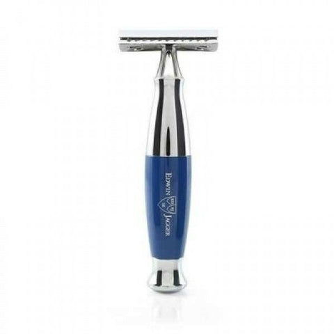 Edwin Jagger | Imitation BLUE and Chrome DE/SAFETY RAZOR in Gift Box