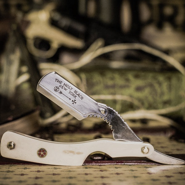 The Holy Black | Barber's Straight Razor BONE