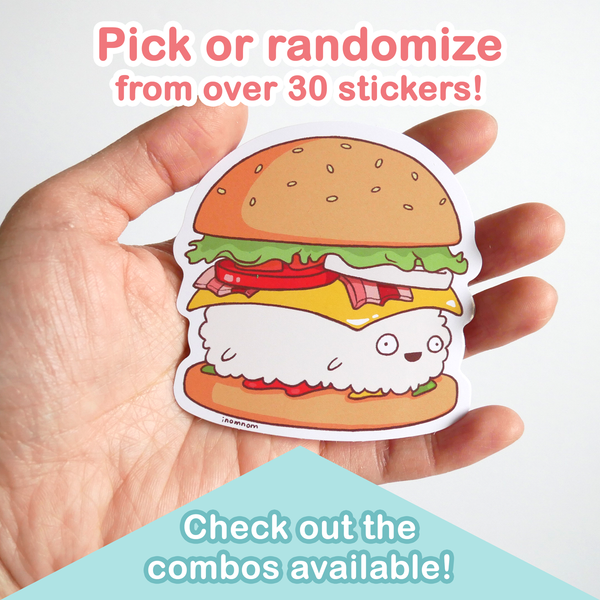 inomnom sushi sticker pack scale