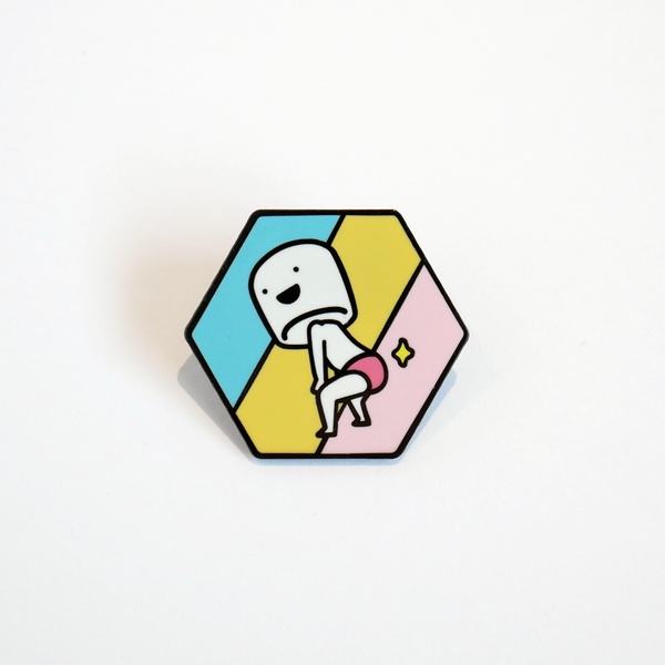Booty boy marshmallow enamel pin