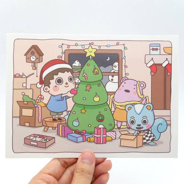 Animal Crossing Cozy Fun Holiday Card