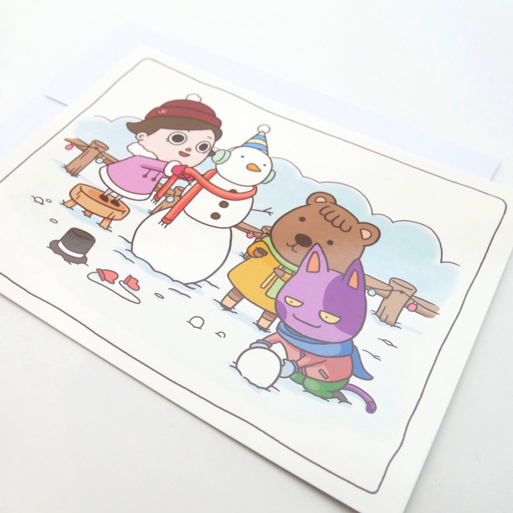 Animal Crossing Wintery Fun Holiday Card