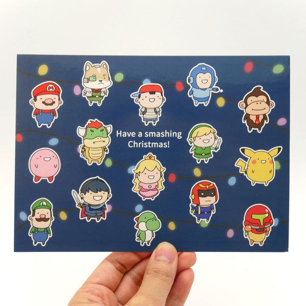 Super Smash Bros: Smashing Christmas Holiday Card