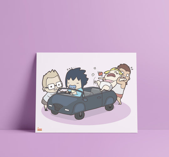 Baby FFXV Final Fantasy Art Print