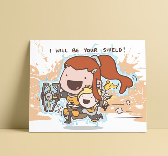 Brigitte Shield Art Print