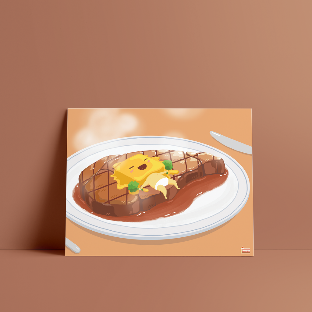 Buttery steak art print