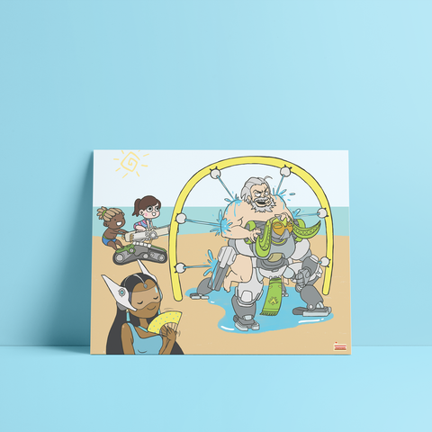 Overwatch summer games carwash art print