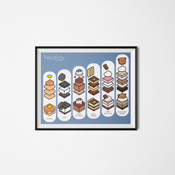 Happy Cake Day: Decadent Cakes Art Print