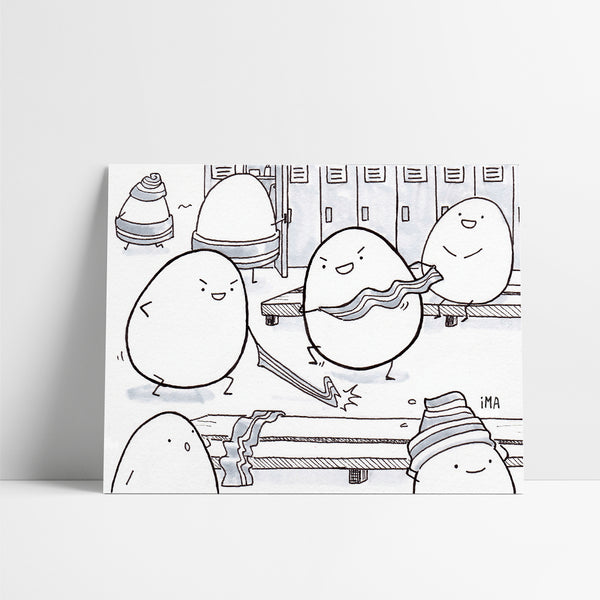 Egg Fights Ink Print