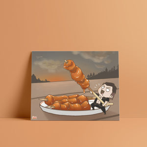 FFXV Final Fantasy Food Gladiolus Amicitia art print