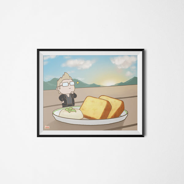 FFXV Final Fantasy Food Ignis Scientia art print framed
