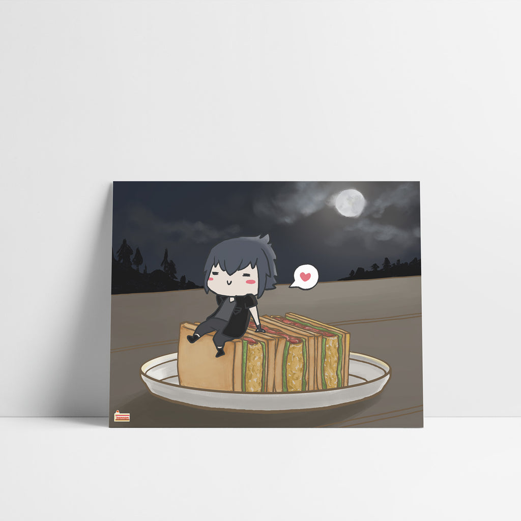 FFXV Final Fantasy Food set Noctis art print