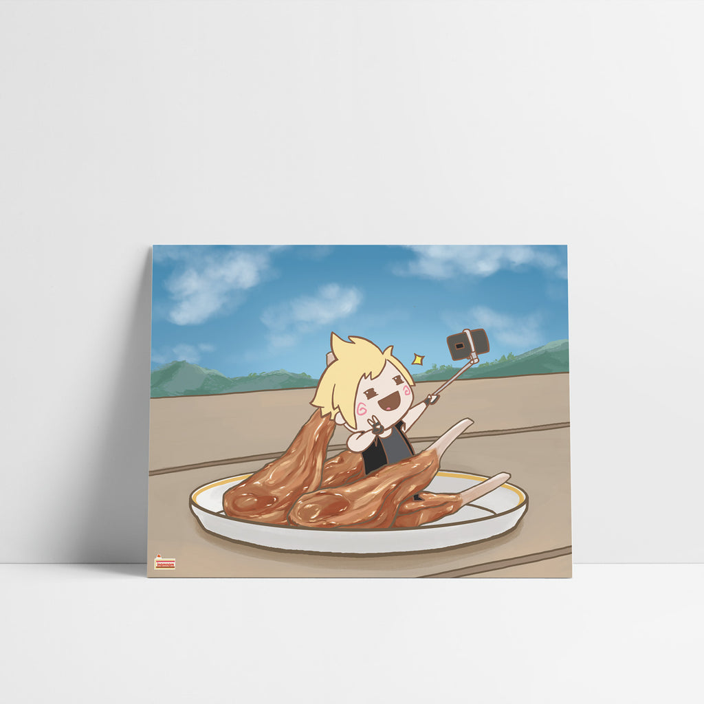 FFXV Final Fantasy Food set Prompto art print