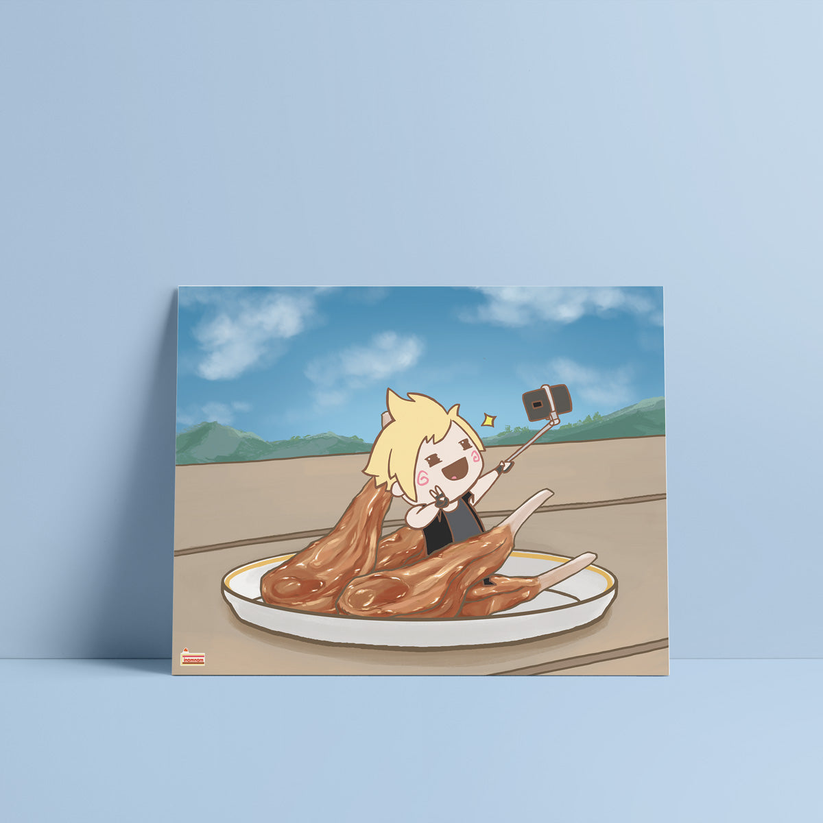 FFXV Final Fantasy Food Prompto Argentum art print