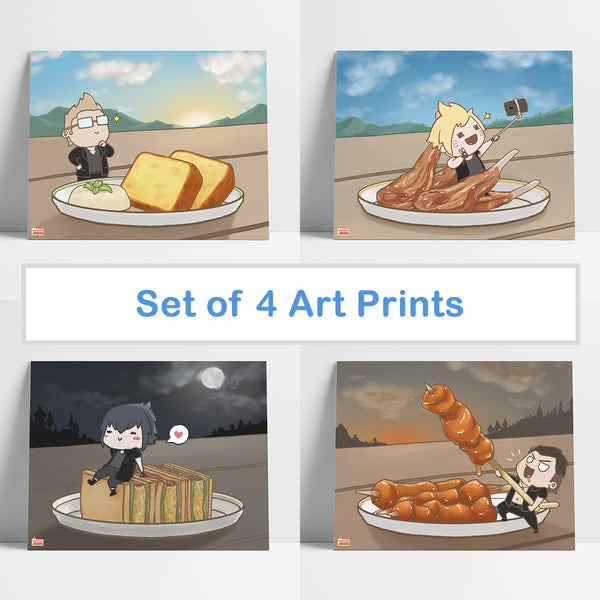 FFXV Final Fantasy Food art print set