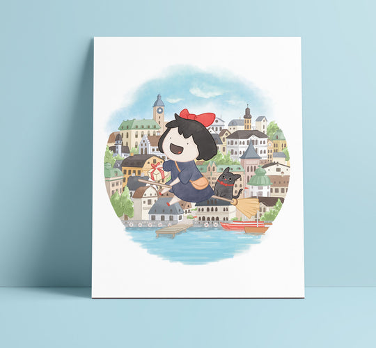 Kiki's Delivery Art Print