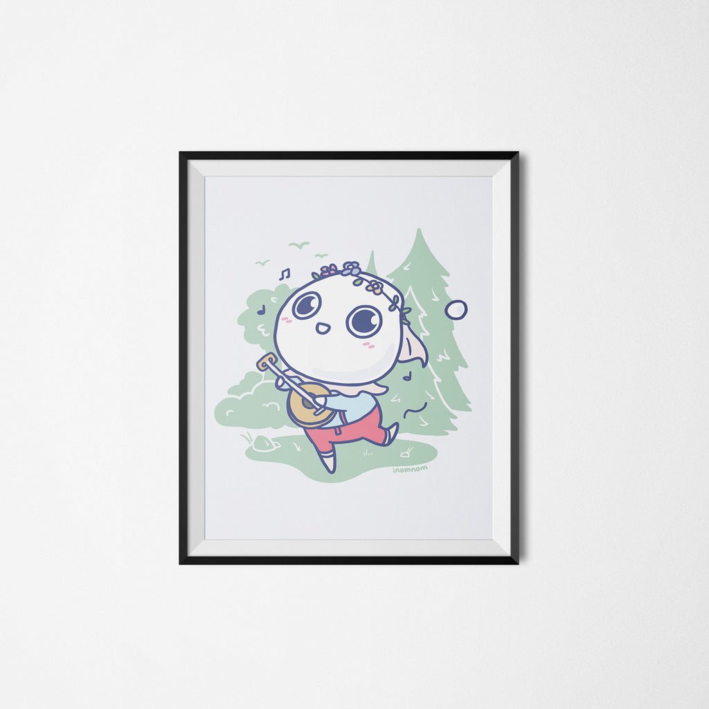 Milk-kun RPG series: Bard Art Print
