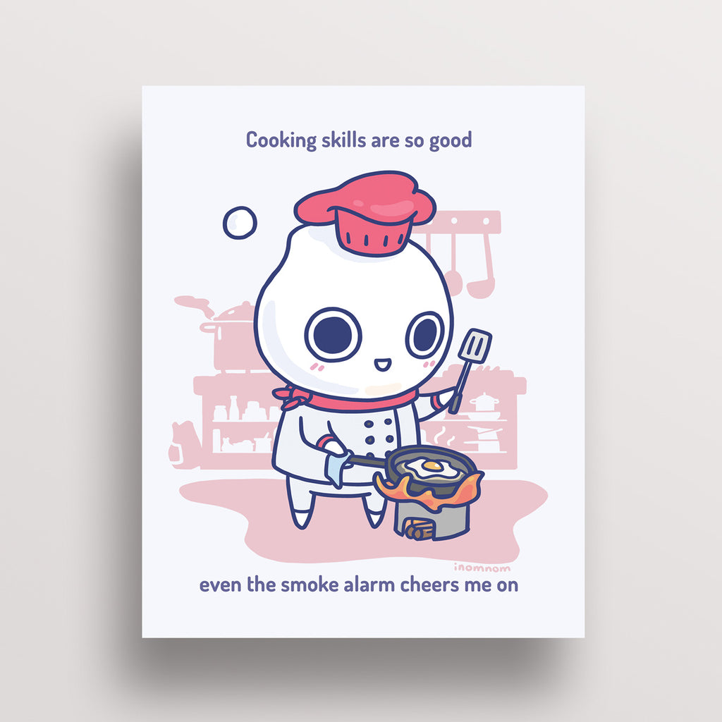 Milk-kun RPG series: Chef Art Print