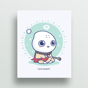 Milk-kun RPG series: Monk Art Print