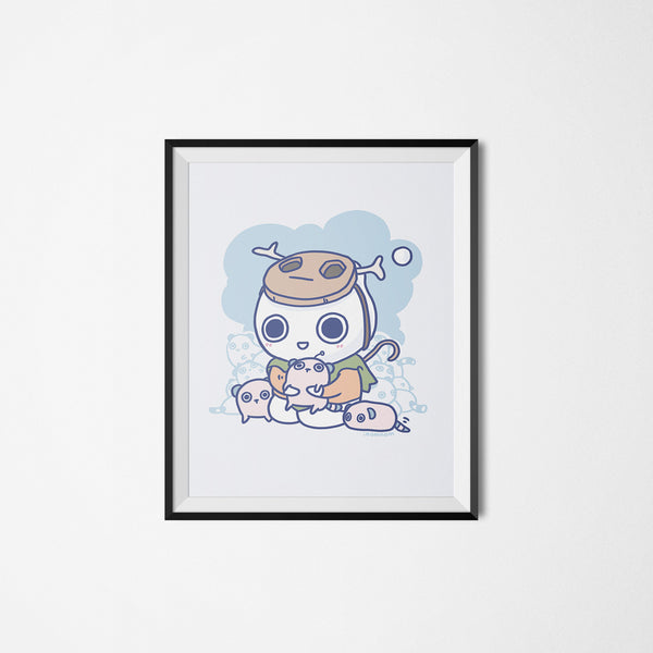 Milk-kun RPG series: Tamer Art Print