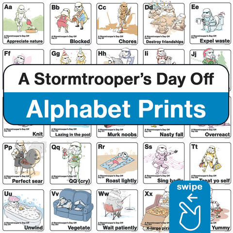 A Stormtrooper's Day Off: Star Wars Alphabet Prints