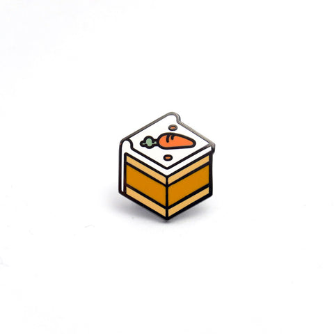 Carrot Cake Enamel Pin