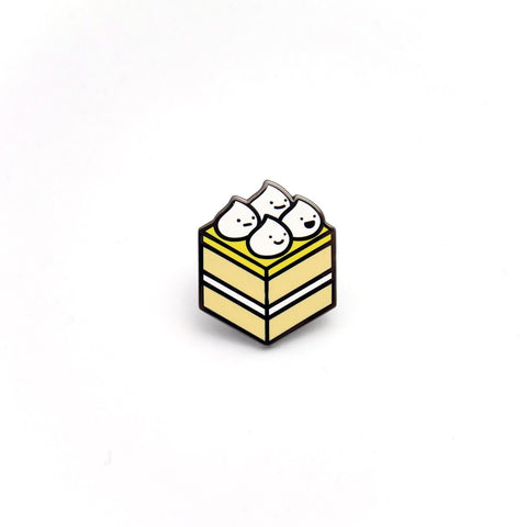 Lemon Meringue Cake Enamel Pin