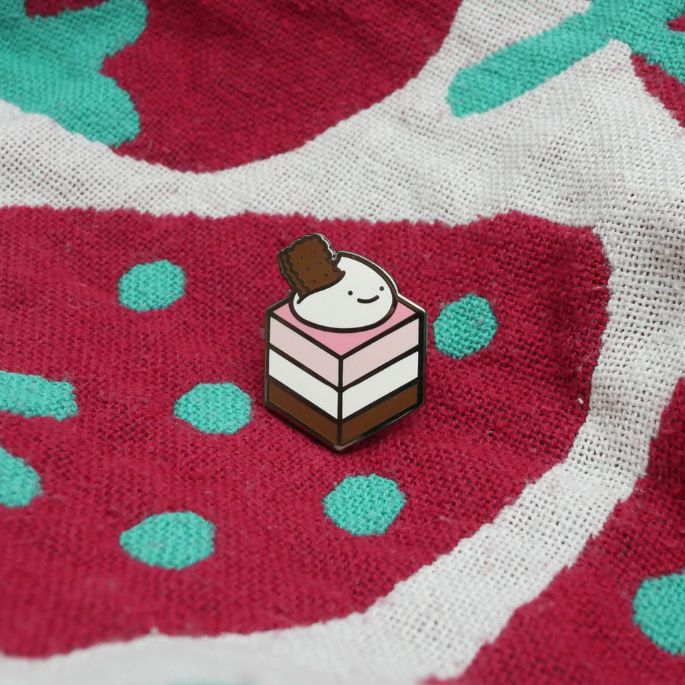 Happy Neapolitan Cake Enamel Pin