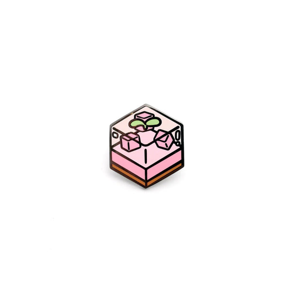 Peach Jelly Cake Enamel Pin