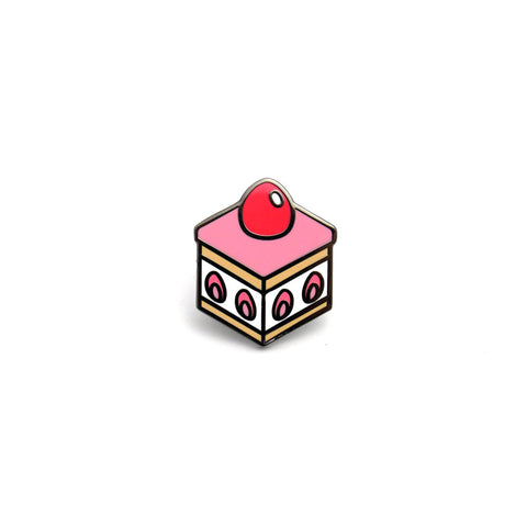 Strawberry Chiffon Cake Enamel Pin