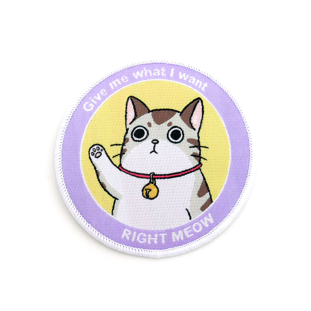 Right Meow Cat Iron-On Patch