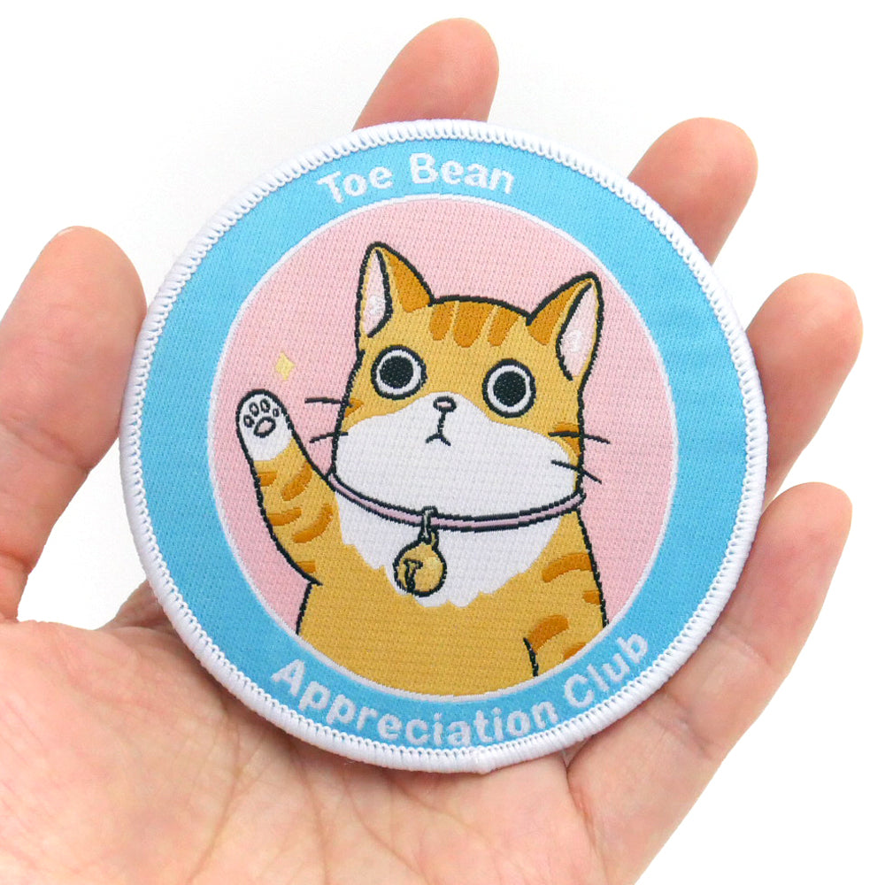 Toe Bean Appreciation Club: Cat Edition Iron-On Patch