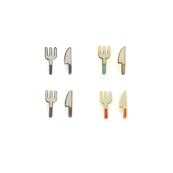 Mini Cutlery Enamel Pin Set