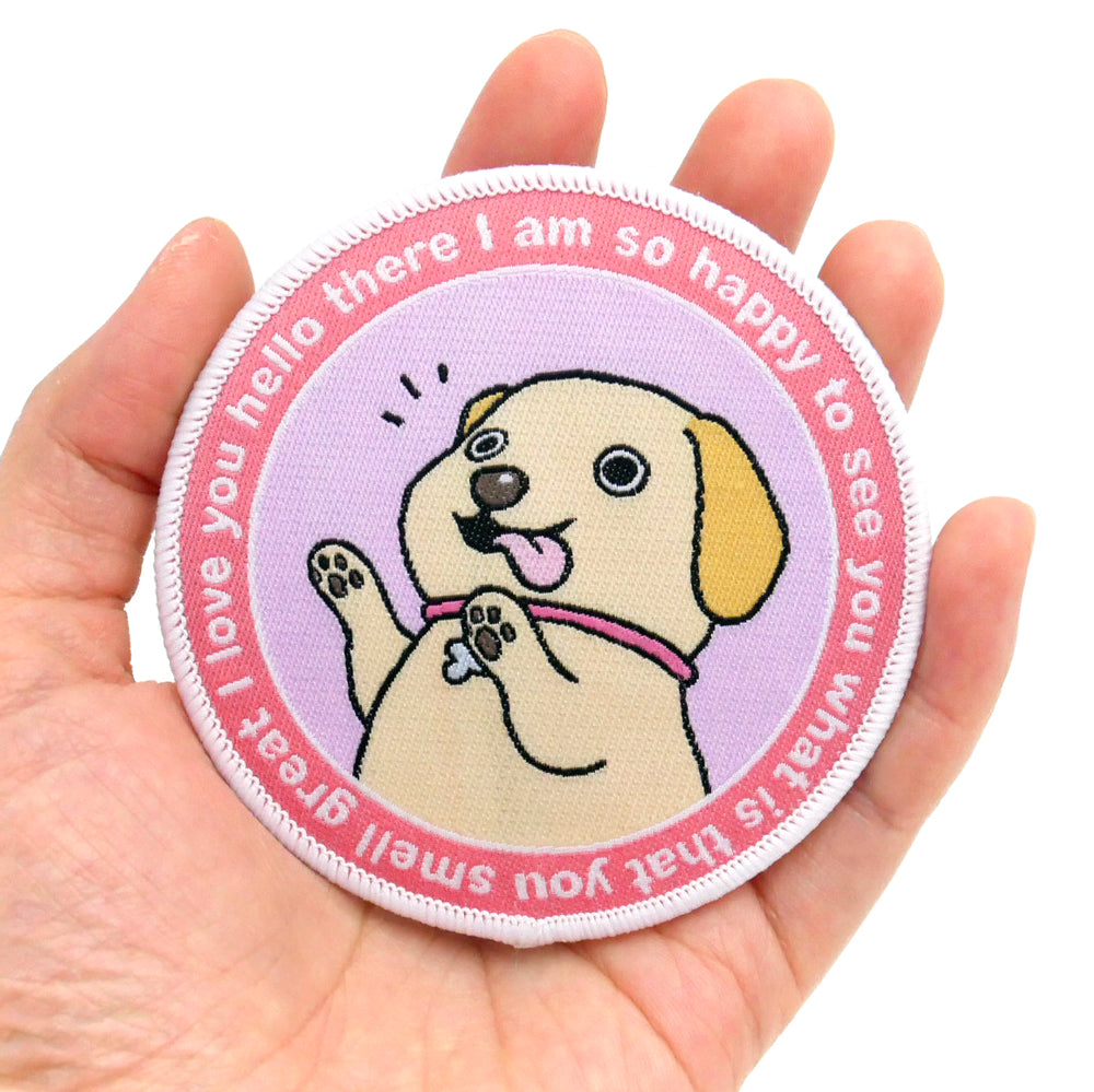 So Happy So Hyper Dog Iron-On Patch