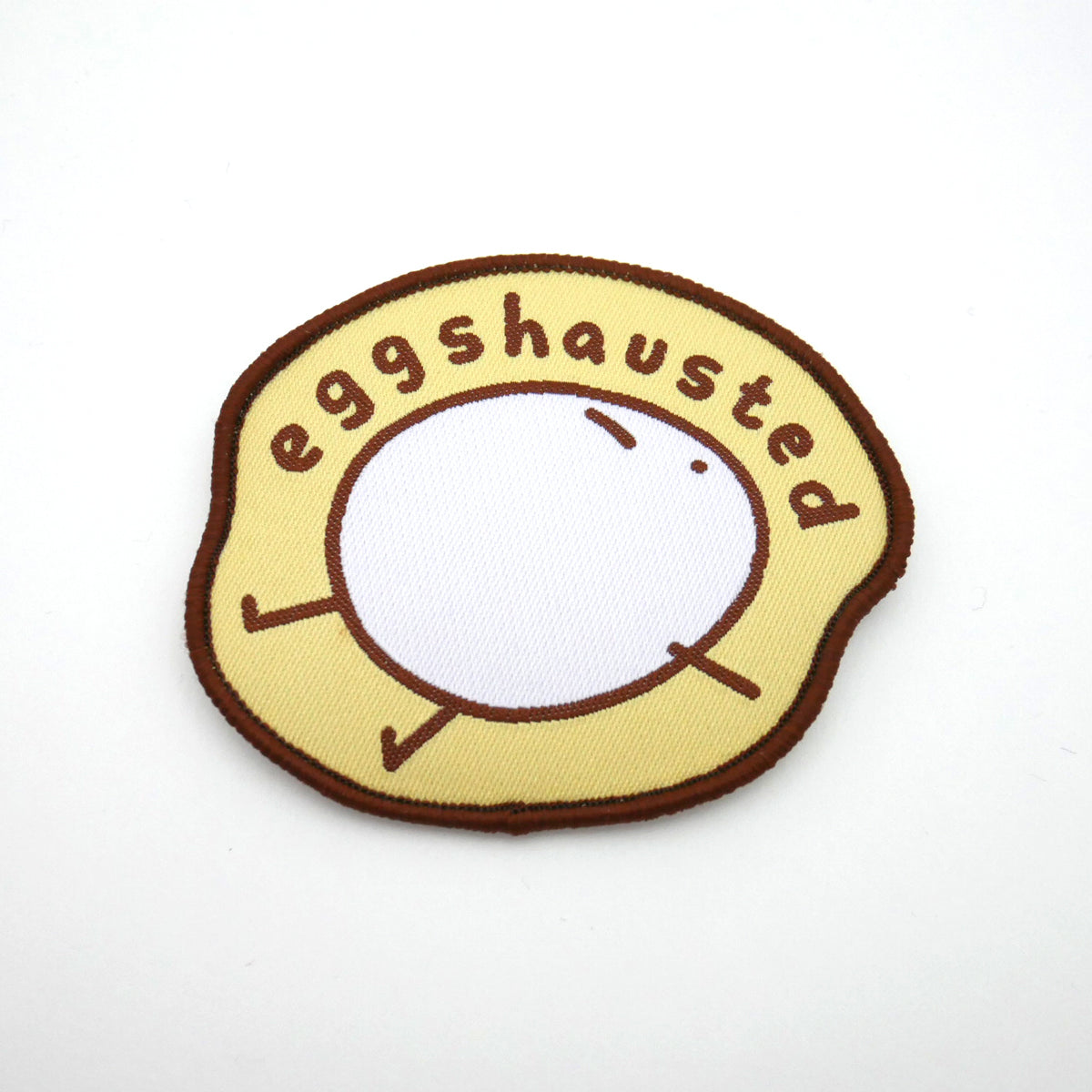 Eggshausted Iron-on Patch